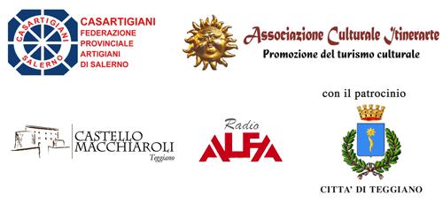 Casartigiani - Associazione Culturale Itinerarte - Castello Macchiaroli Teggiano - con il patrocinio della Città di Teggiano